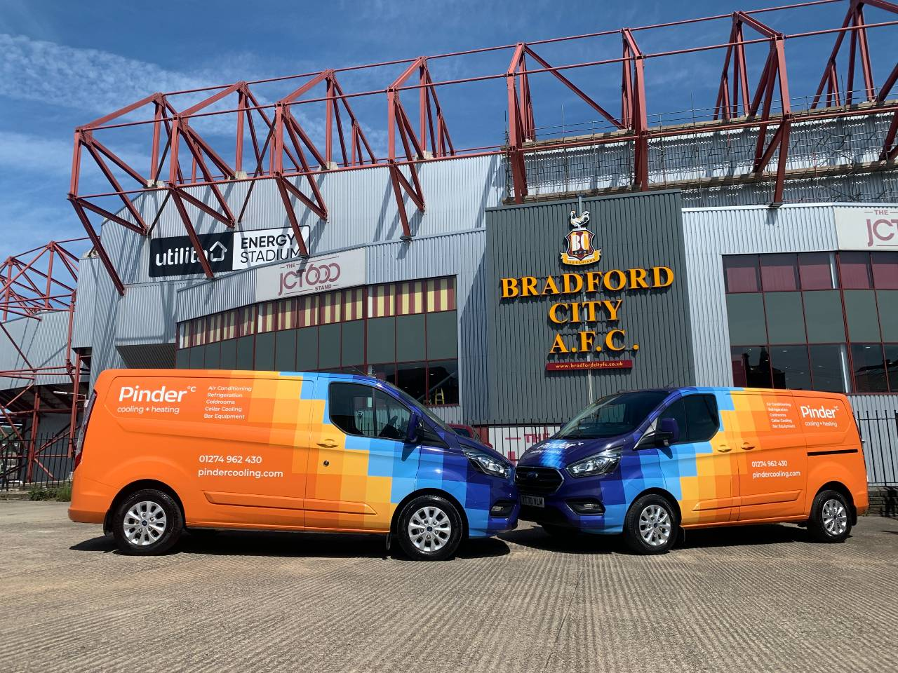 Pinder Cooling Providind Refrigeration Systems For Bradford City